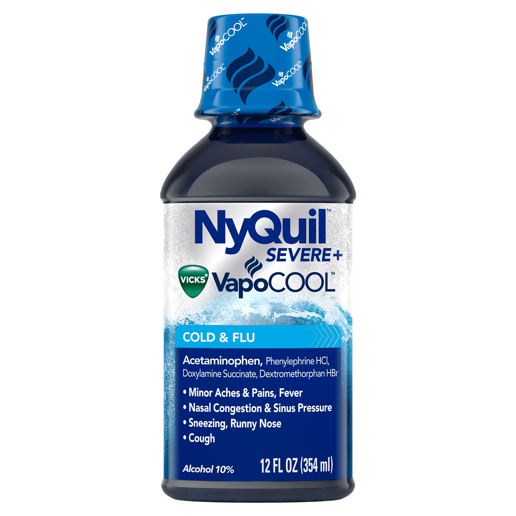 NyQuil Severe+ VapoCool Cold & Flu 12 fl oz