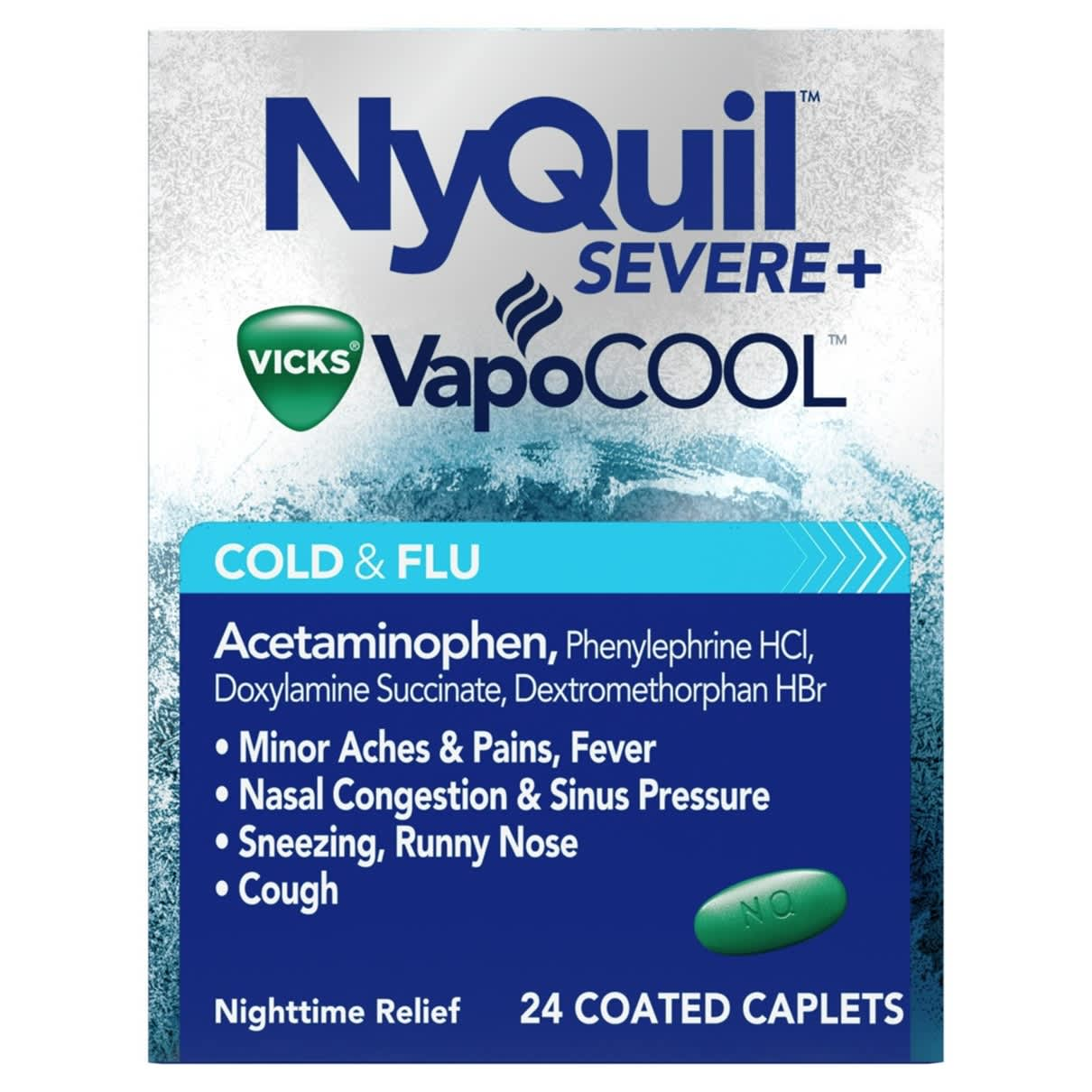 NyQuil Severe+ VapoCool Cold & Flu Main Image
