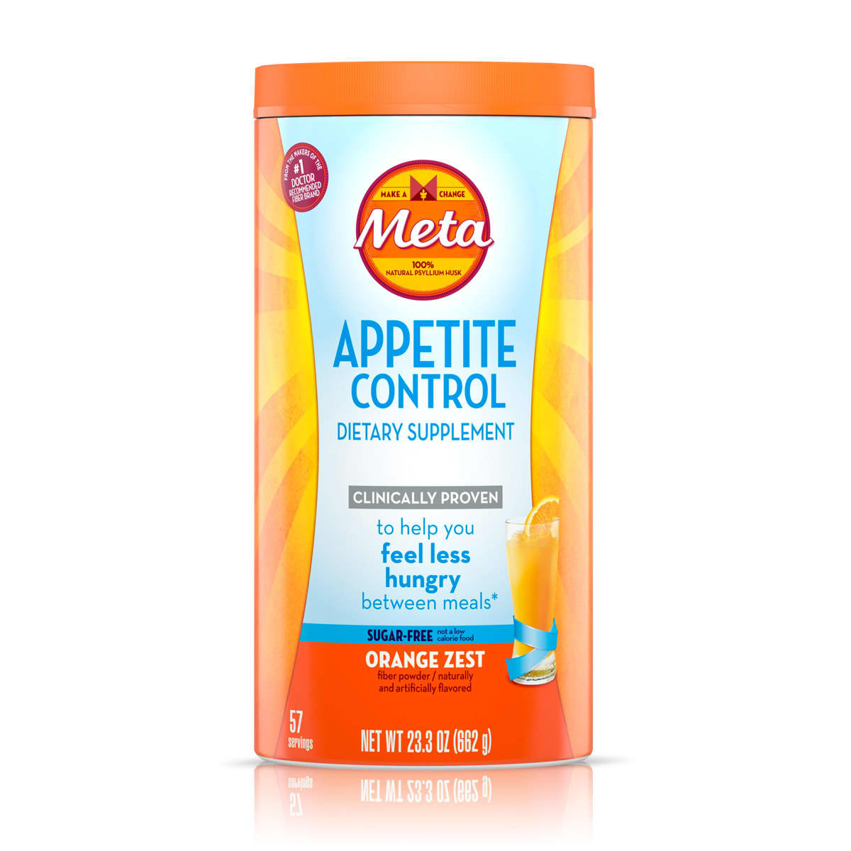 Metamucil Appetite Control Sugar Free Orange Zest Powder