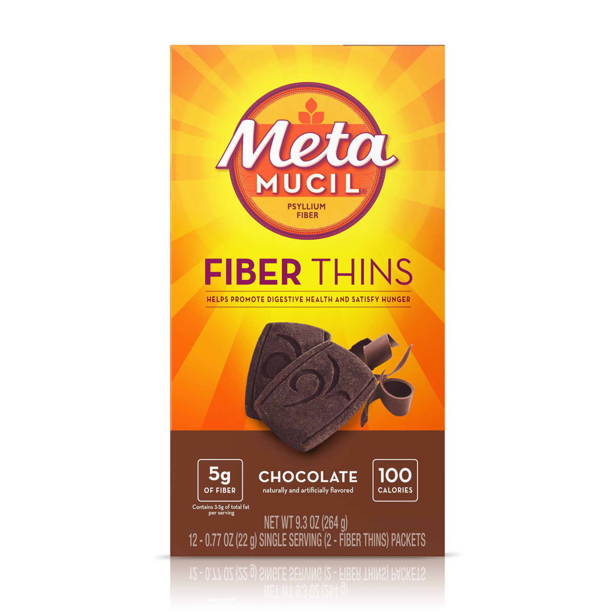 METAMUCIL FIBER THINS CHOCOLATE