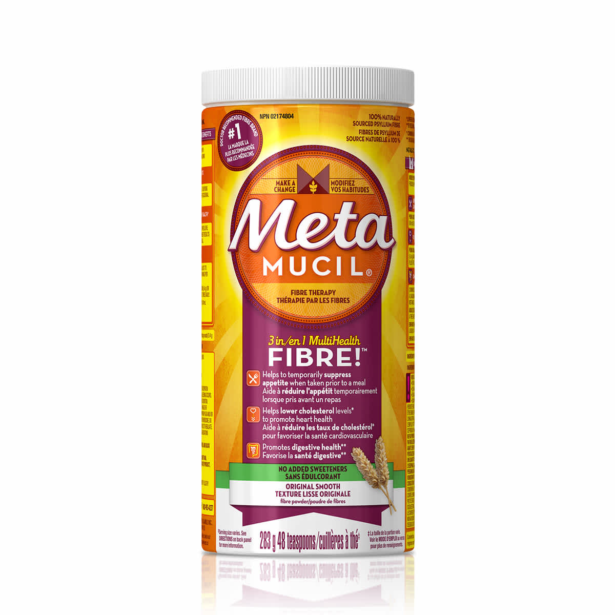 Metamucil Powder with No Added Sweetener | Metamucil