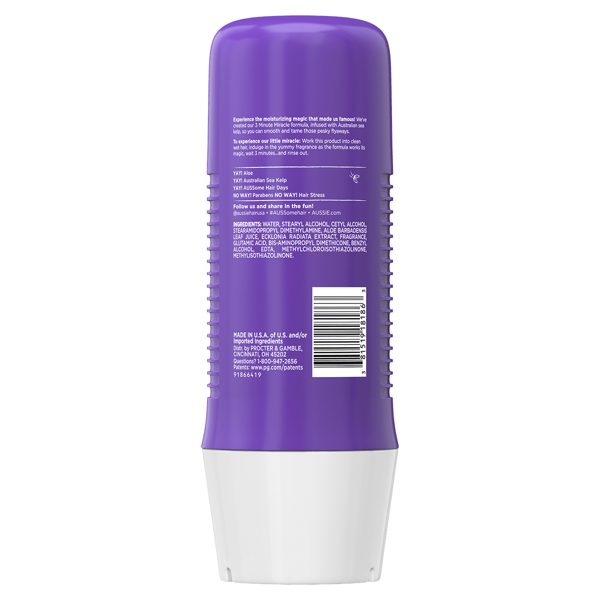 Aussie 3 Minute Miracle Smooth Conditioner Back