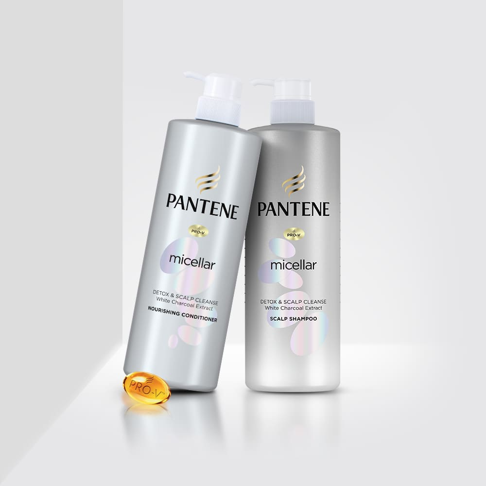 Pantene micellar detox & scalp cleanse shampoo & conditioner