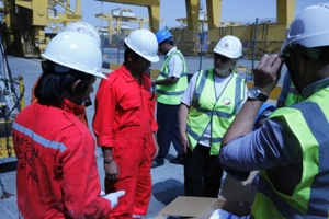 Procter & Gamble and the Angel Appeal donate care packages to seafarers at Jebel Ali Port