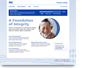 P&G Product Safety Information Web site