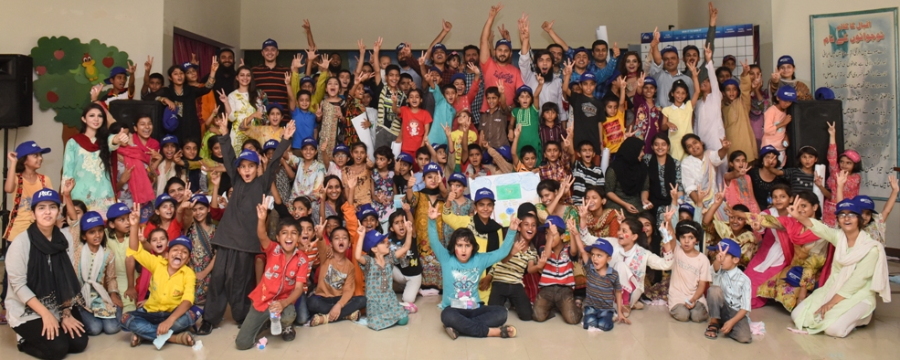 SOS Village Childern with P&G Employees Group Photo