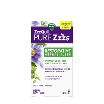ZzzQuil PURE Zzzs Restorative Herbal Sleep Tablets