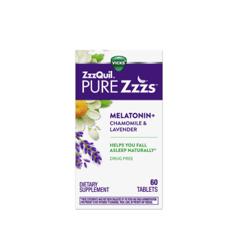 ZzzQuil PURE Zzzs Melatonin Tablets
