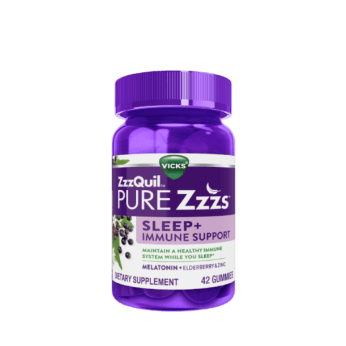 ZzzQuil PURE Zzzs Sleep + Immune Support Gummies | ZzzQuil