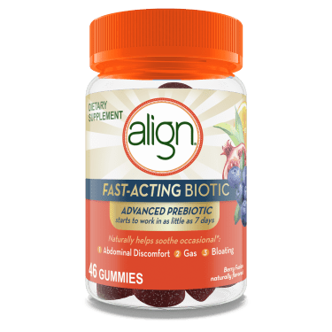 Align Fast-Acting Biotic, Advanced Prebiotic, Works in as little as 7 days