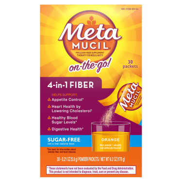 METAMUCIL SUGAR FREE ORANGE FIBER SINGLES 30