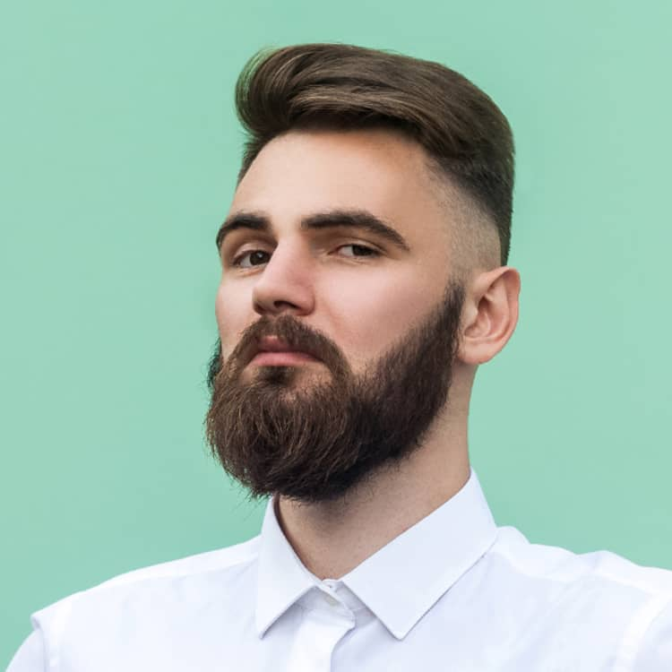 Design neatly trimmed beard A growing