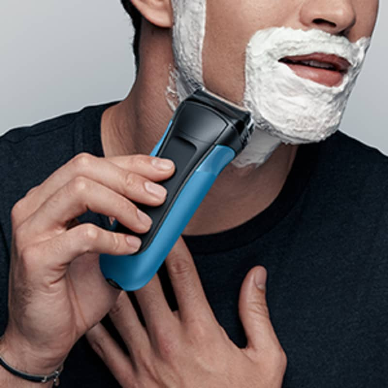 Shave wet or dry