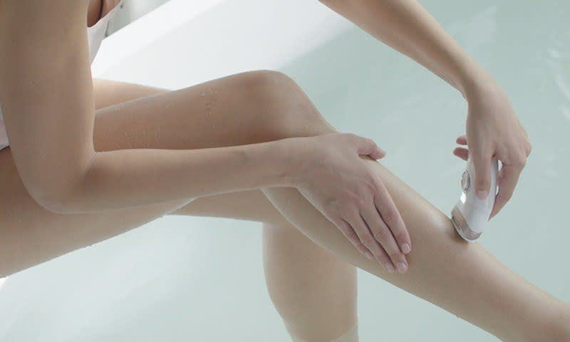 Epilate in warm water for a virtually painless experience with regular use.
