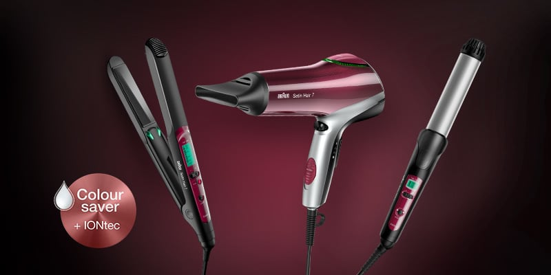 Colour Saver straighteners, dryers and curlers from Braun