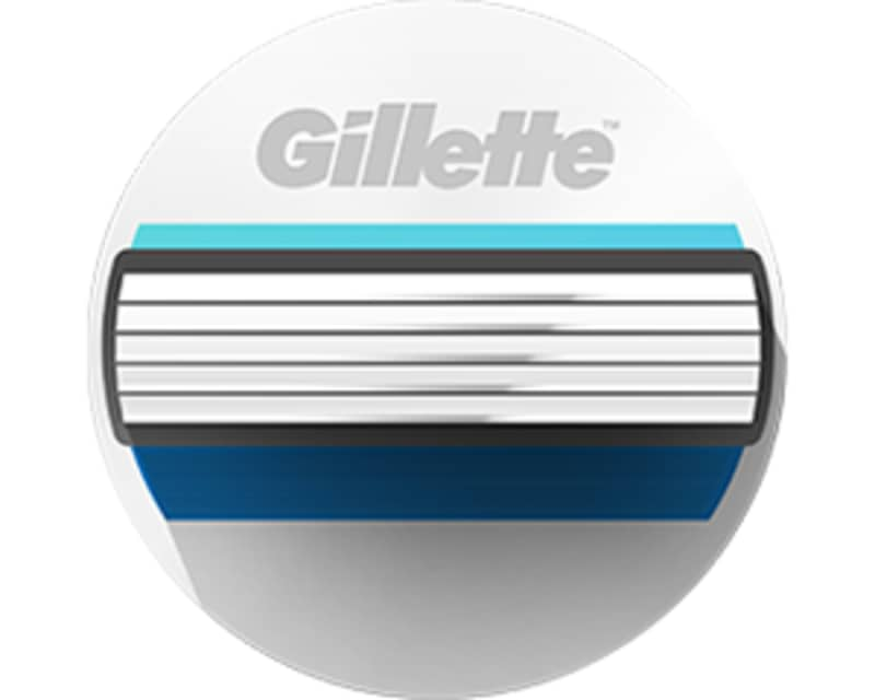 5 integrated Gillette Fusion blades
