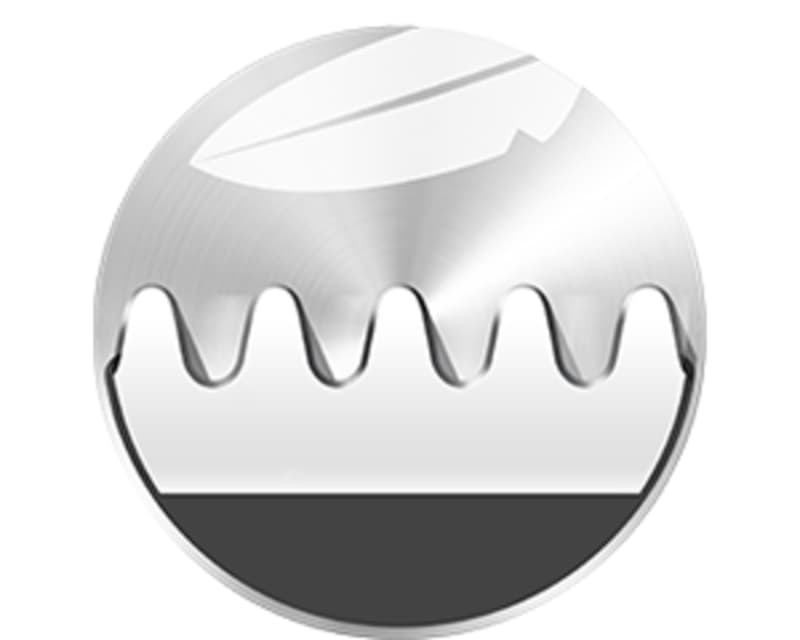 Extra small trimming teeth