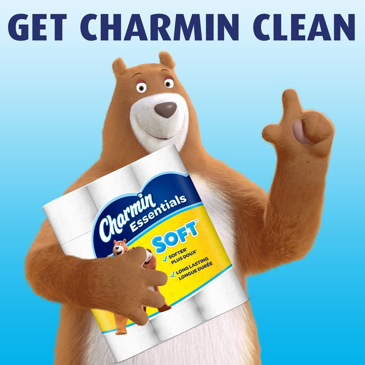 Clean better with essential soft toilet paper