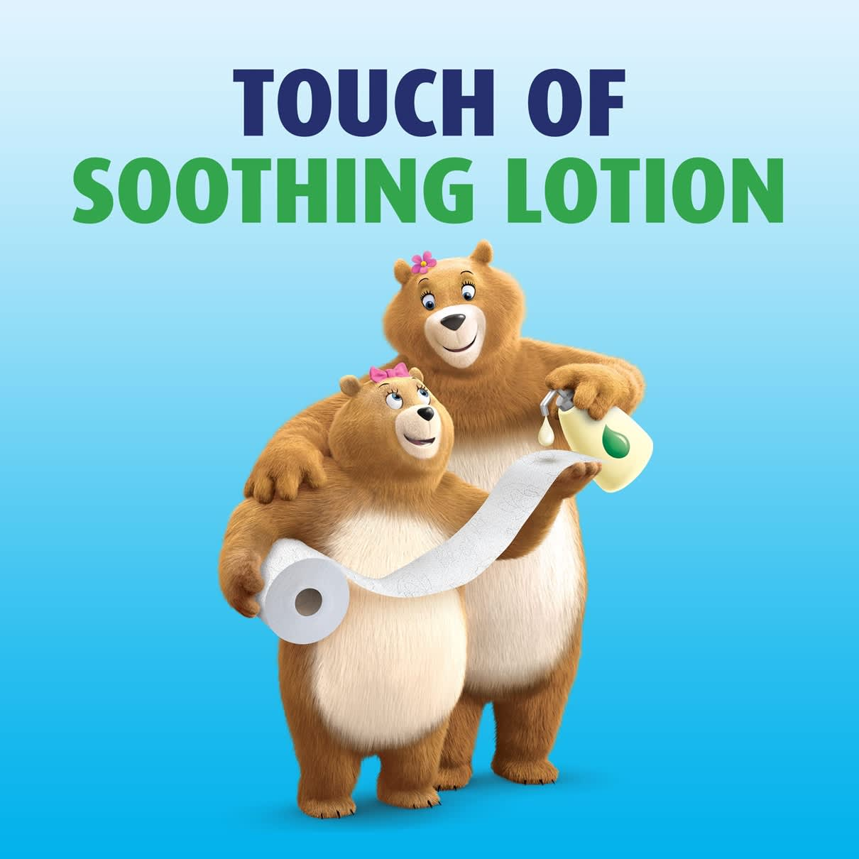 Touch of soothing lotion on every sheet from ultra gentle toilet paper