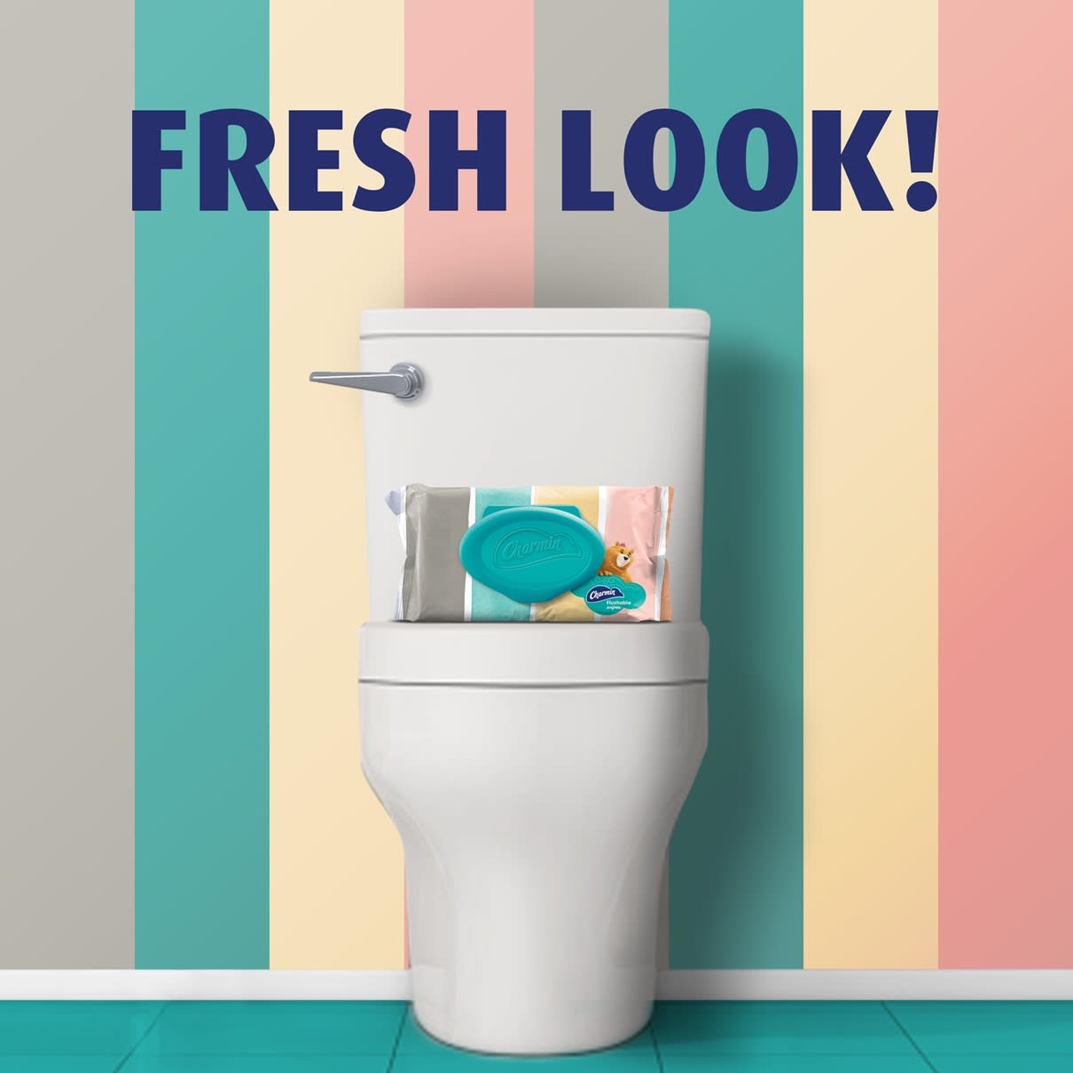 Get Fresh look with flushable wipes