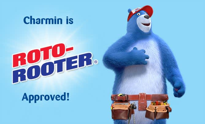Charmin toilet paper is roto rooter approved
