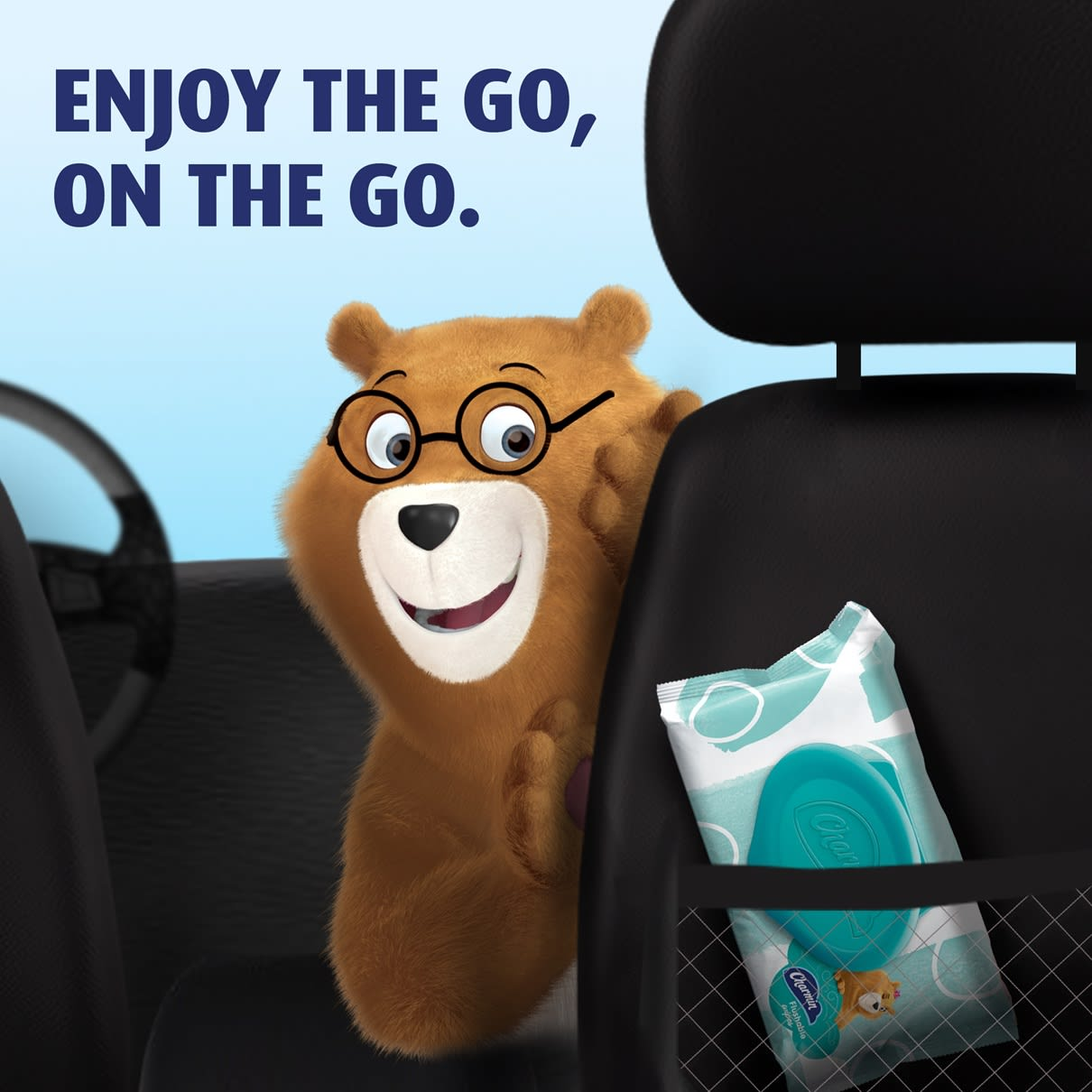 Enjoy the go in travel with Charmin flushable wipes