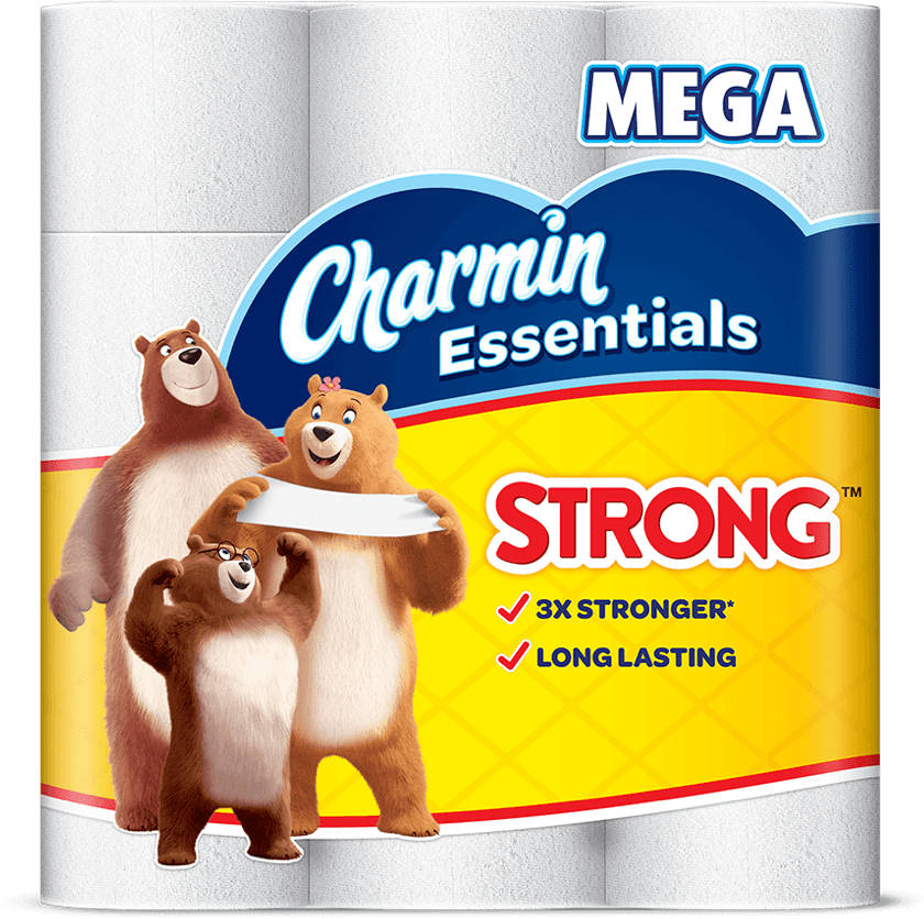 Essential strong toilet paper mega roll