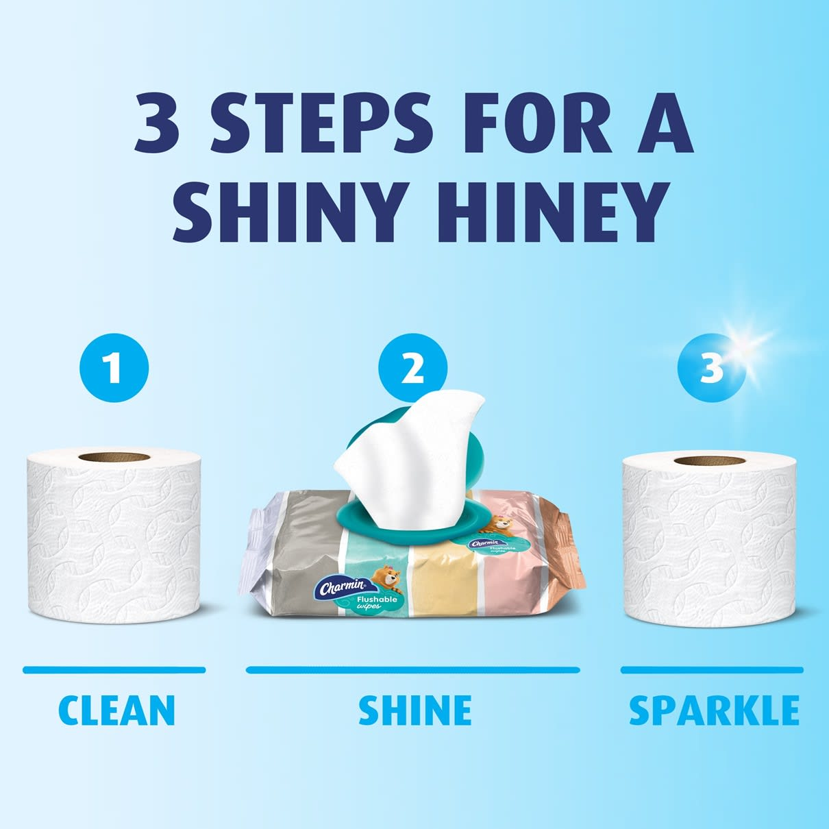 How to use toilet paper with flushable wipes for shiny hiney