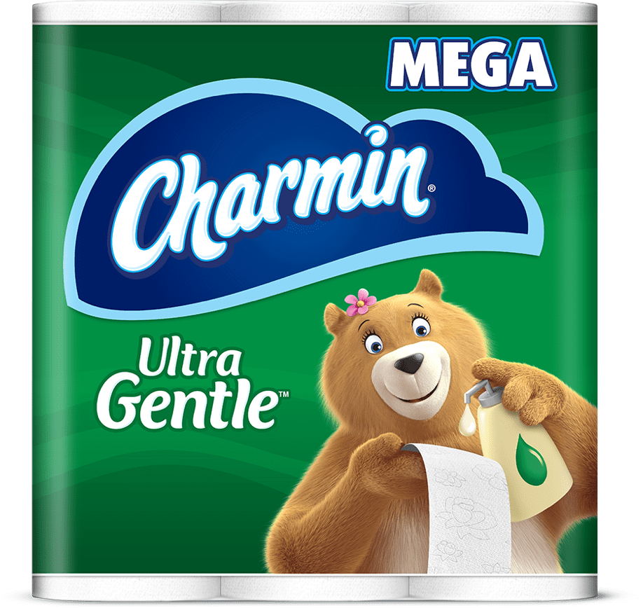 Ultra gentle soothing lotion mega roll toilet paper
