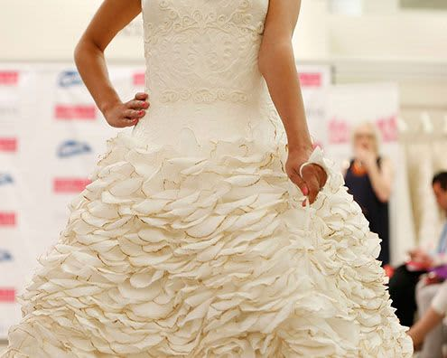 Toilet paper wedding dress with more ultra strong