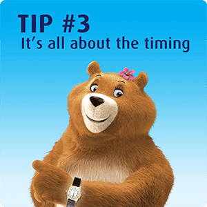 Tip 3 - Be strategic and timing when you go to the bathroom