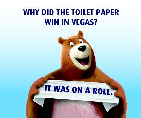 Why did the Toilet Paper win in vegas?