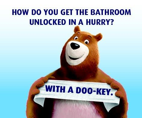 How do you get the bathroom unlock in a hurry?