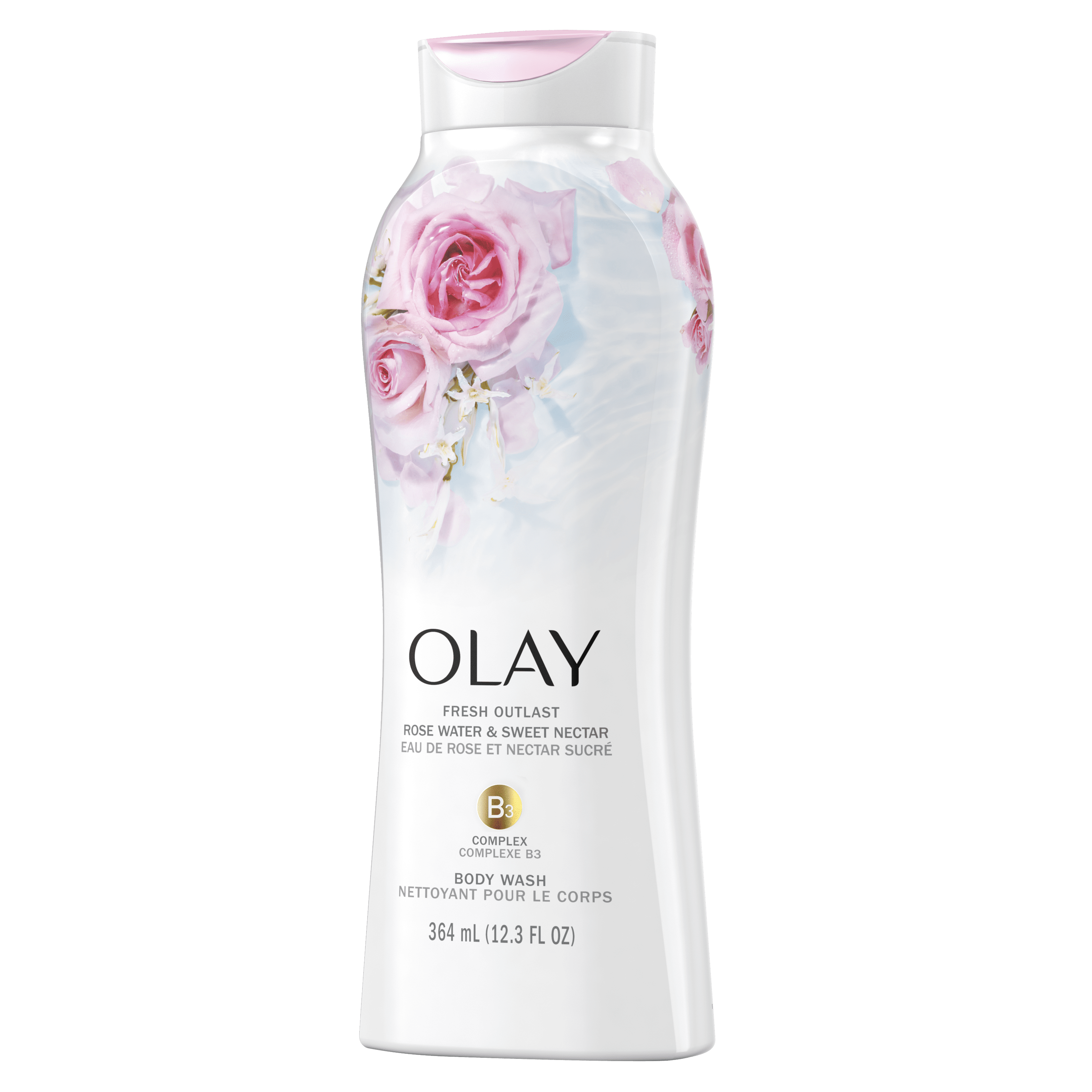 Rose Water and Sweet Nectar Fresh Outlast Body Wash_2