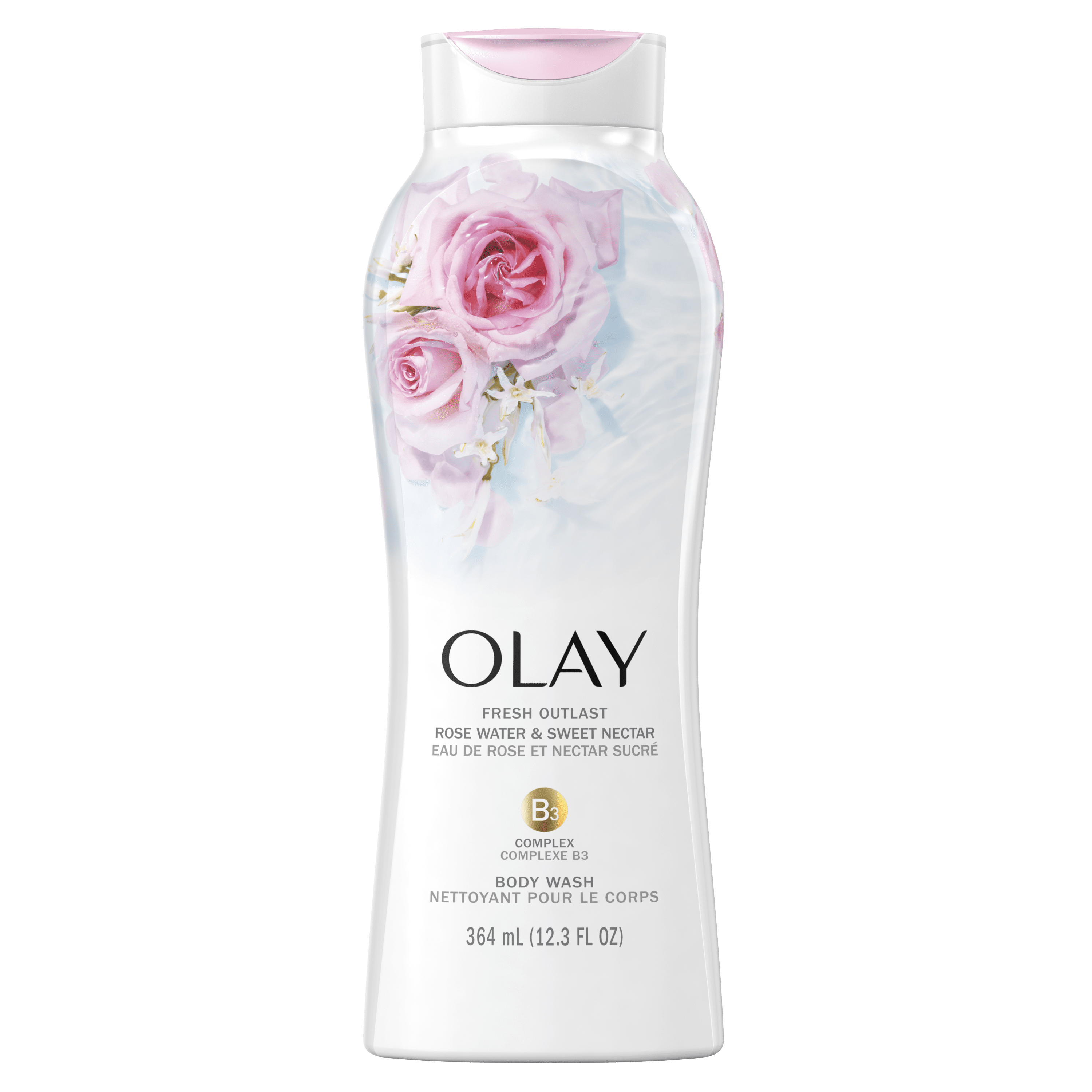 Rose Water and Sweet Nectar Fresh Outlast Body Wash