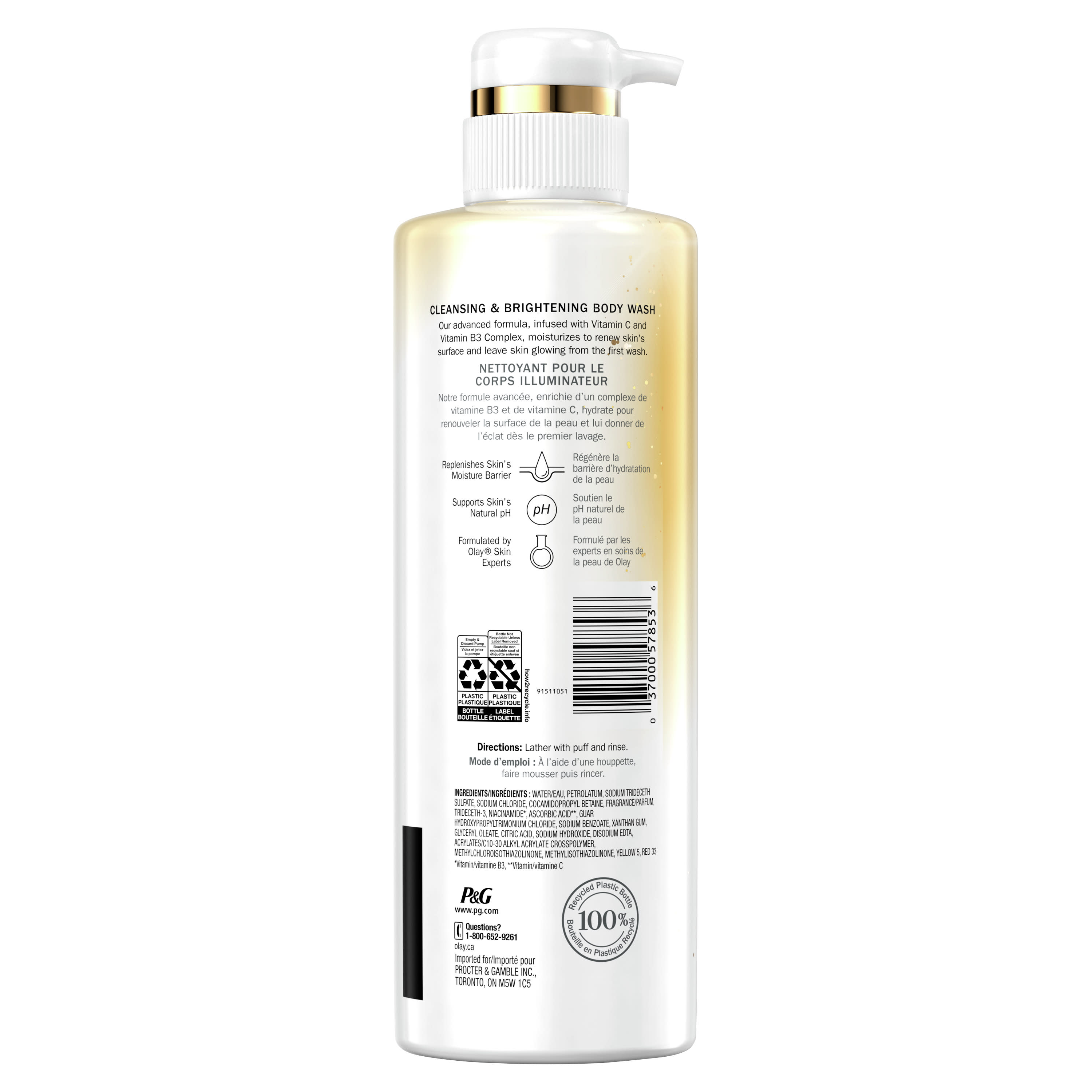 Olay Cleansing & Brightening Body Wash with Vitamin C and Vitamin B3 - 2