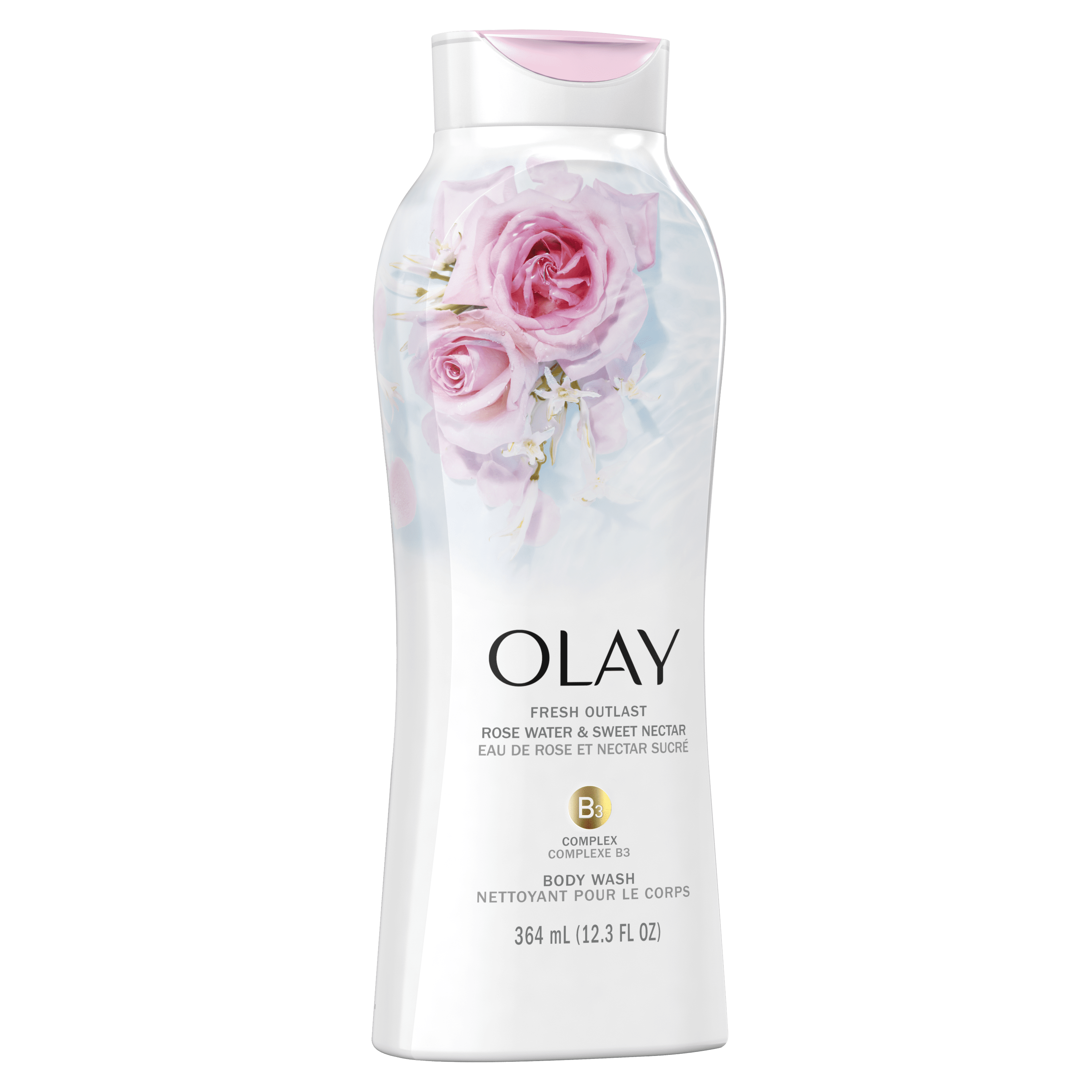 Rose Water and Sweet Nectar Fresh Outlast Body Wash_1