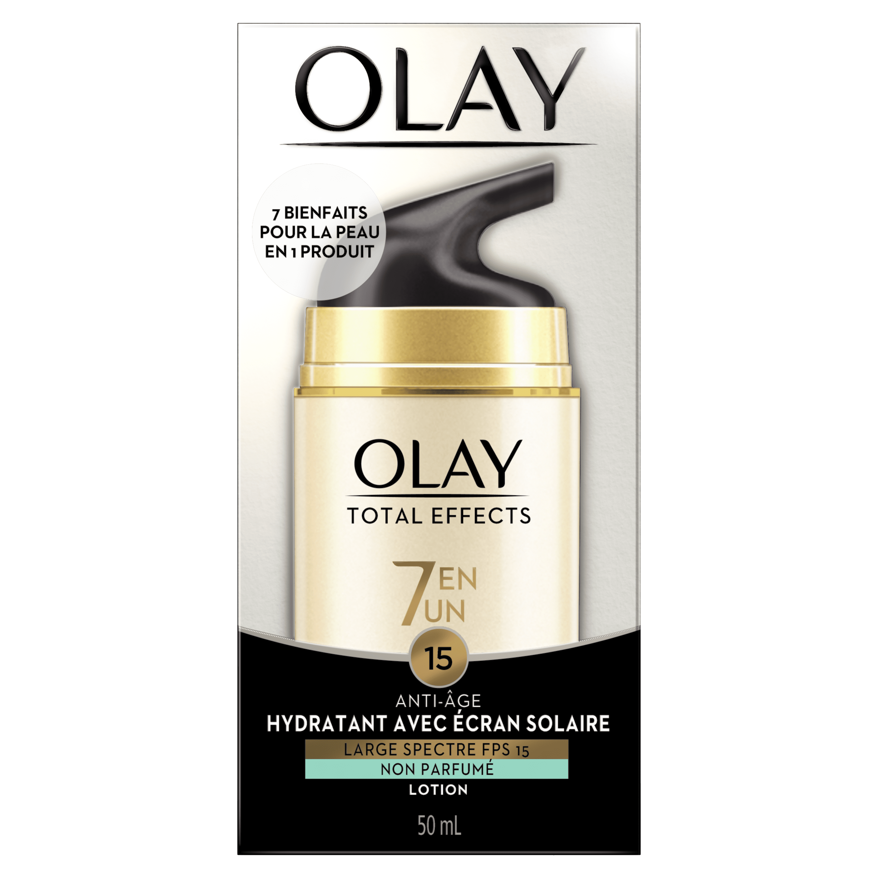 Hydratant anti-âge avec écran solaire Olay Total Effects, 50 mL