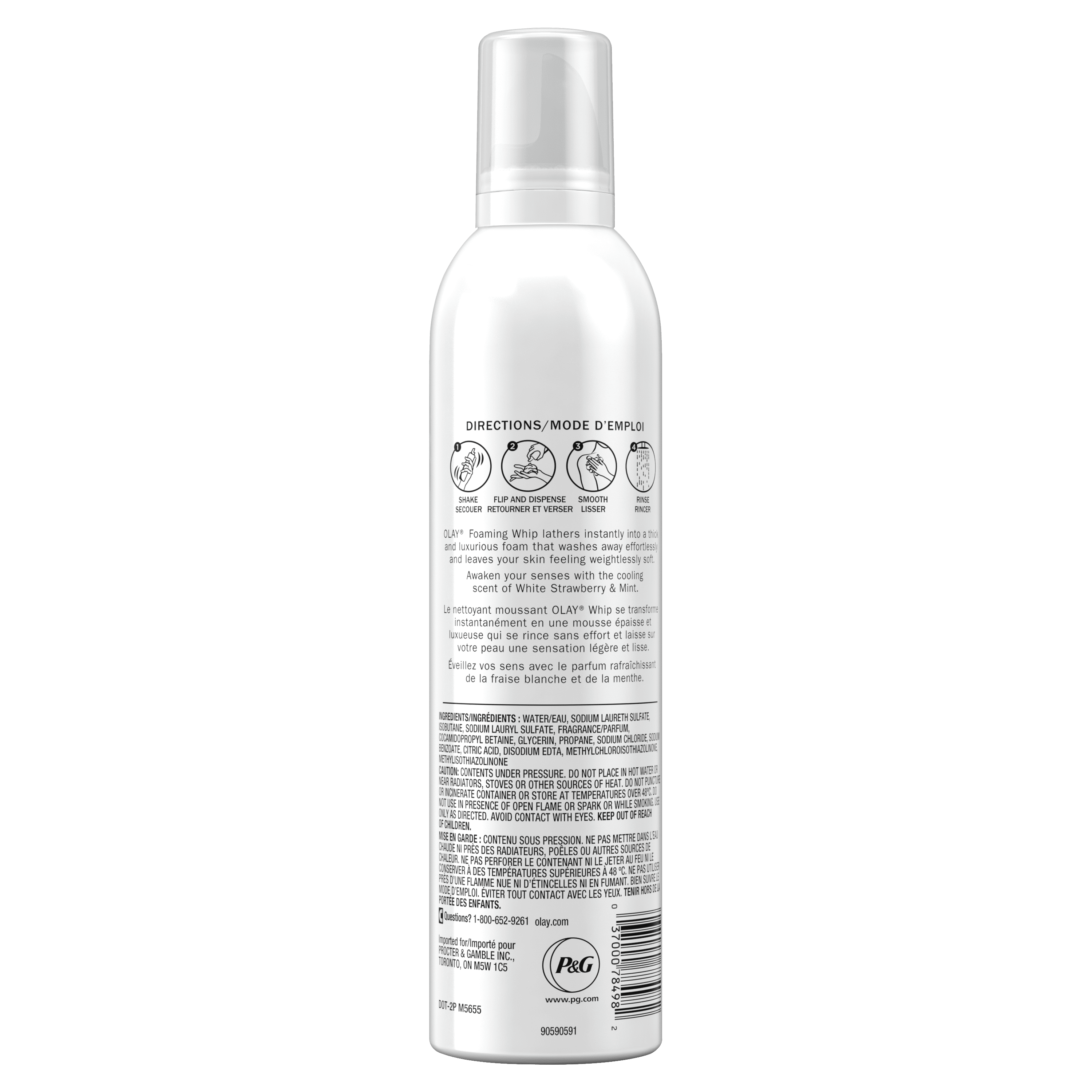 White Strawberry and Mint Scent Foaming Whip Body Wash_3