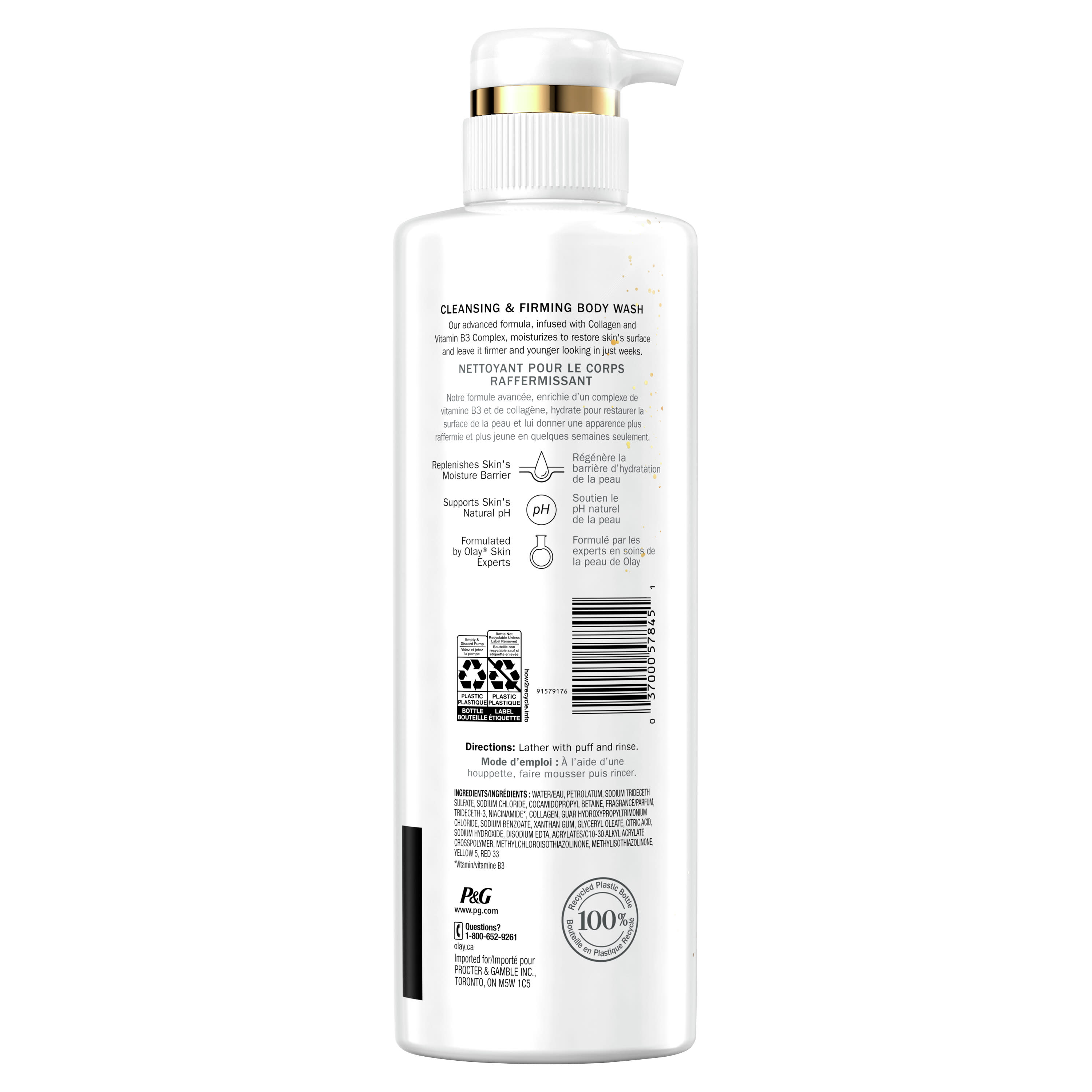 Olay Cleansing & Firming Body Wash with Collagen and Vitamin B3