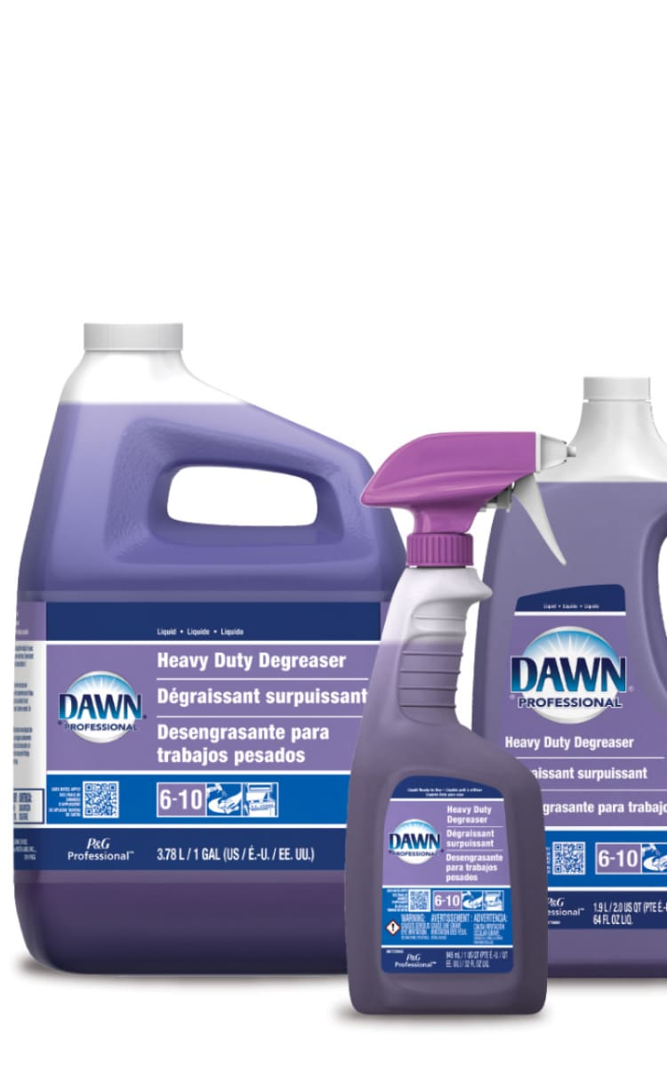 Dish, pot and pan cleaning products
