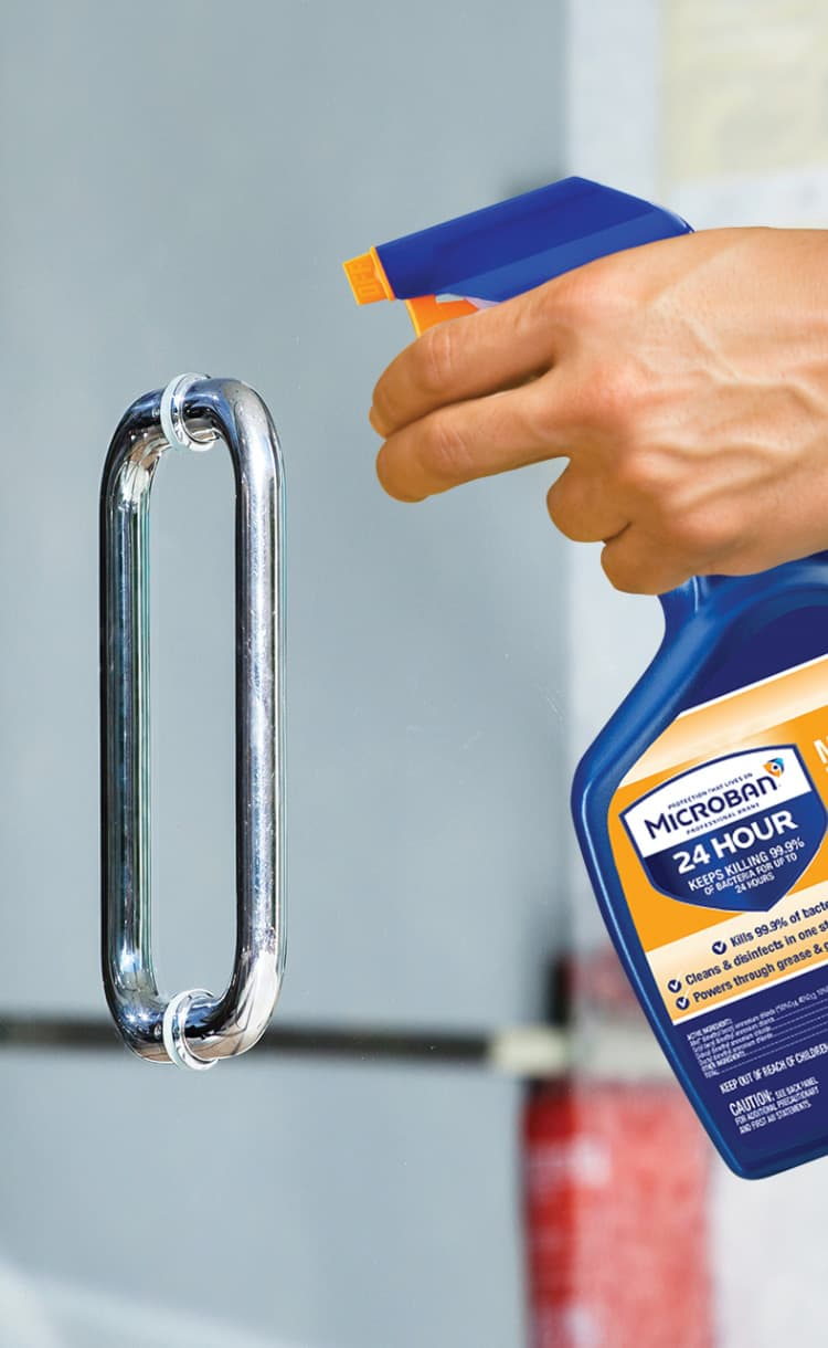 Microban 24 hour disinfectant cleaner