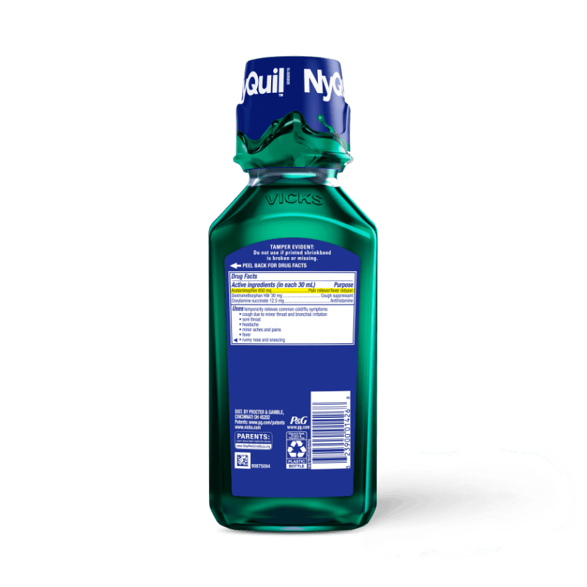 NyQuil Cold & Flu Liquid Drug Facts & Uses