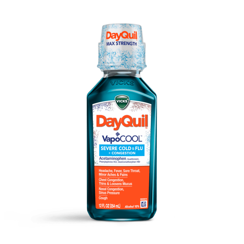 DayQuil Severe VapoCOOL Daytime Cold & Flu Relief Liquid