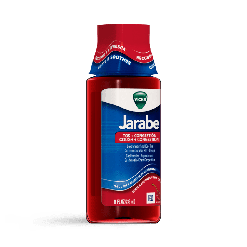 Vicks Jarabe Liquid for cough and mucus