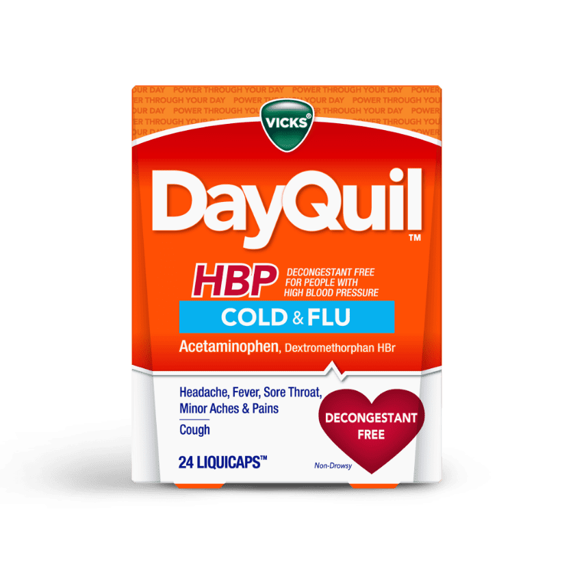 DayQuil HBP Cold & Flu Liquicaps