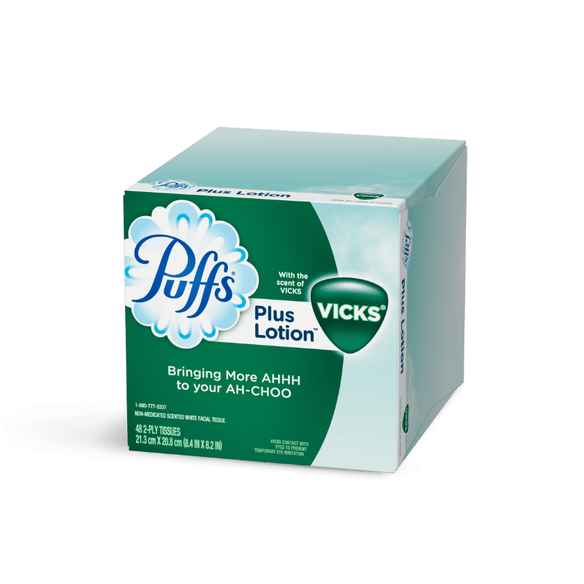 Puffs Plus Lotion Facial Tissues 48 Count