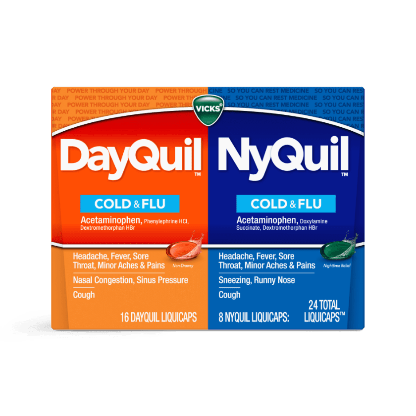DayQuil and NyQuil Cold & Flu Relief Liquicaps