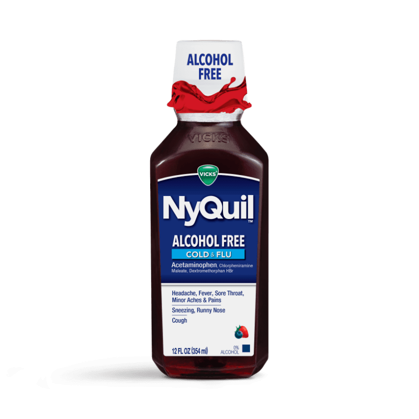 Alcohol-Free NyQuil Cold & Flu Nighttime Relief Liquid