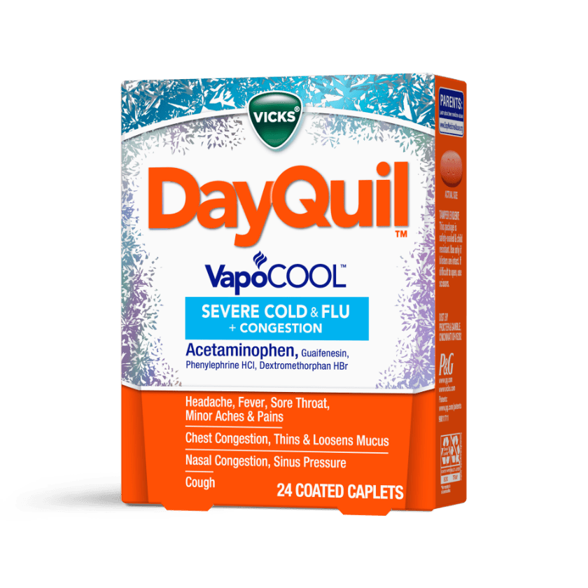 DayQuil Severe VapoCOOL Congestion, Fever, Sore Throat Relief